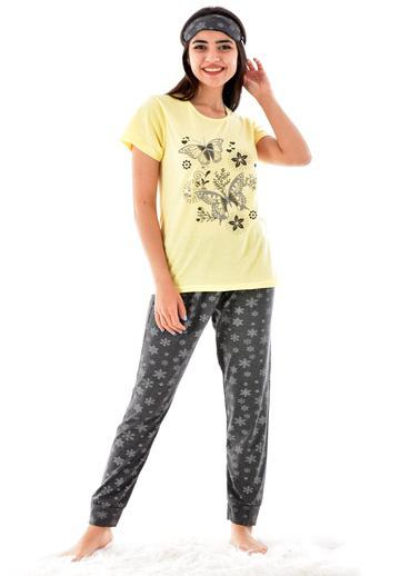 Pemilo Pijama Takım Sarı